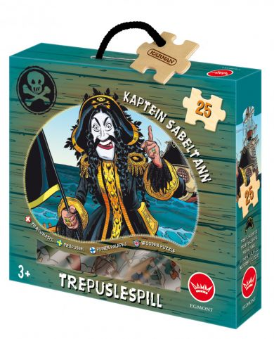 Trepuslespill Kaptein Sabeltann 25 Biter
