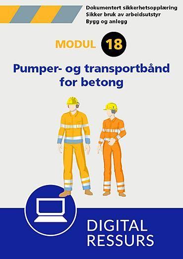 Sikker bruk av pumper og transportbånd for betongleveranse