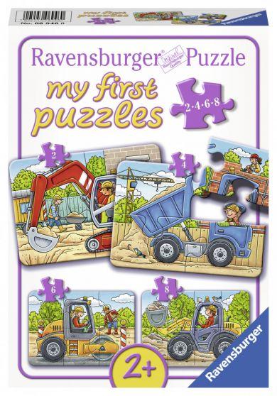 Puslespill 2,4,6,8 My First Puzzle Kjøretøy Ravens