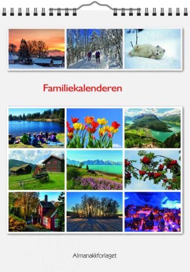 Familieplanlegger 2021 Familiekalenderen m/spiral