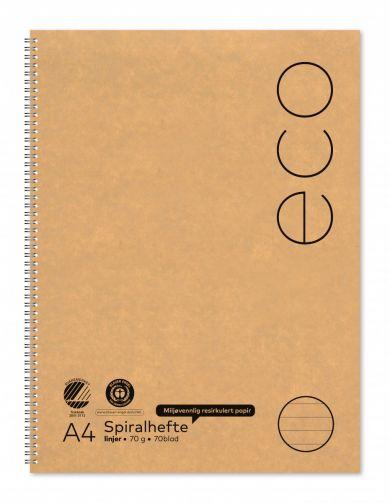 Spiralhefte Norli A4 70g 70bl linjer (2)