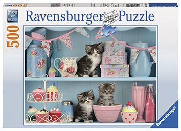 Puslespill 500 Cats And Cupcake Ravensburger