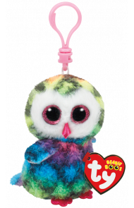 Bamse TY Owen Owl Multicol Clip