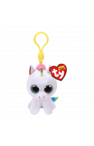 Bamse TY Pixy White Unicorn Clip