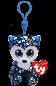 Bamse Ty Slush Blå Glitter Hund Clip