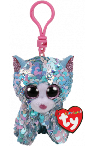 Bamse Ty Whimsy Blå Glitter Katt Clip