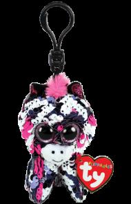 Bamse Ty Zoey Rosa Glitter Zebra Clip