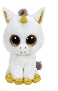Bamse Ty Pegasus White Unicorn Regular