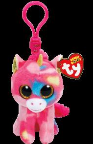 Bamse TY Fantasia Multi Unicorn Clip