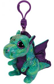 Bamse TY Cinder Green Dragon Clip