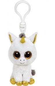 Bamse Ty Pegasus White Unicorn Clip