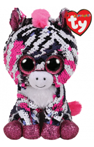Bamse Ty Zoey Rosa Glitter Zebra Regular