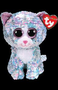 Bamse Ty Whimsy Blå Glitter Katt Regular