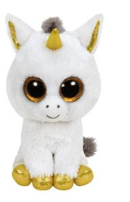 Bamse TY Pegasus White Unicorn Medium