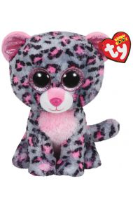 Bamse Ty Pink Grey Leopard Medium