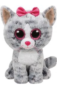 Bamse TY Kiki Grey Cat Medium