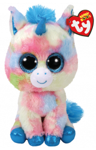 Bamse TY Blitz Blue Unicorn Medium