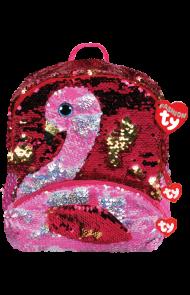 Sekk Ty Gilda Rosa Glitter Flamingo