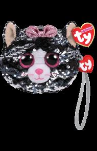 Lommebok Ty Kiki Grå Glitter Katt