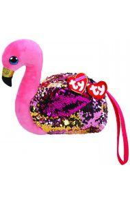 Lommebok Ty Gilda Rosa Glitter Flamingo