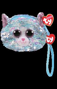 Lommebok Ty Whimsy Blå Glitter Katt