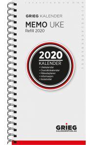 Lommekalender Grieg Memo spiral refill 2020