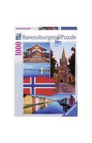 Puslespill Ravensb 1000 Trondheim