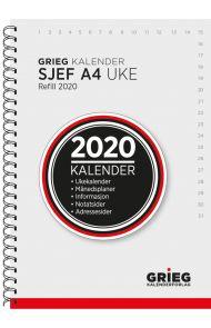 Sjefskalender Grieg A4 spiral refill 2020
