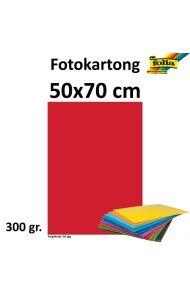 Fotokartong 50X70 300G Rød