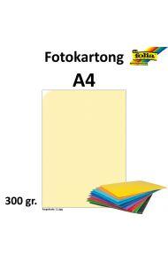 Fotokartong A4 300G Strågul