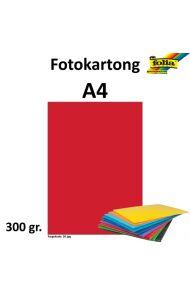 Fotokartong A4 300G Rød
