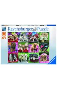 Puslespill Ravensburger Puppy 500