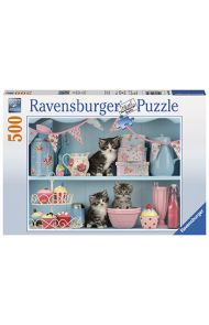 Puslespill Ravensb 500 Cats And Cupcake