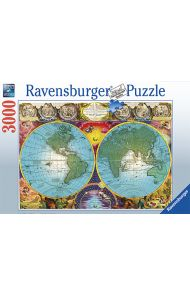 Puslespill Ravensburger 3000 Antique Map