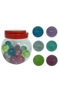 Leke Glitter Sprettball Ass Farger 5 cm