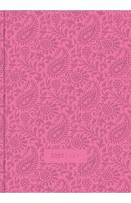 Sjefskalender Grieg A5 Imitert 2020 Rosa