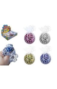 Leke Squeeze Ball Glitter 6 cm I Nett