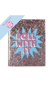 Notatbok 8X10 Glitter Roll With It
