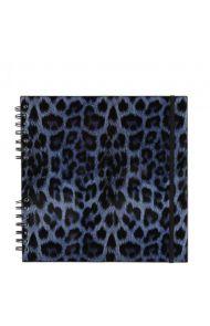 Scrapbook Blue Leopard Print M