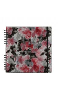 Scrapbook Silver Pink Floral M