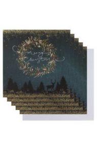 Julekort PC Merry Chr Wreath Sq 6