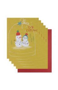 Julekort PC Cosy Christmas Snowmen 6
