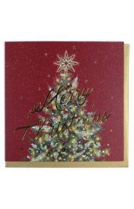 Julekort PC Merry Christmas Tree