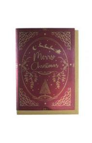 Julekort PC Merry Christmas Text