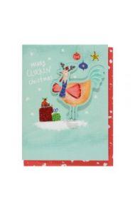 Julekort PC Merry Cluckin Christmas