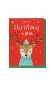 Julekort PC Merry Xmas My Deer