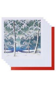 Julekort PC Japanese Trees Fine Art 8 Pk