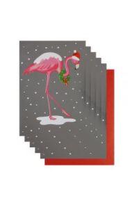 Julekort PC Flamingo 8 Pk