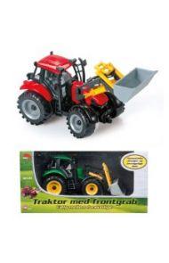 Leke Bull Traktor Med Frontgrab