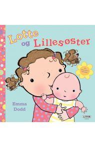 Lotte og Lillesøster ta- og følebok med klaffer